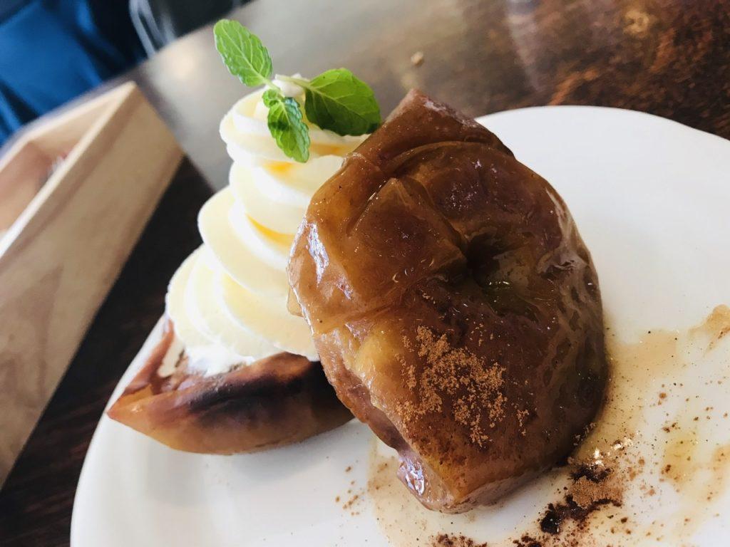 【日吉】昔ながらの洋食屋さんプクプク亭でランチ!デザートに「焼きリンゴ ソフトクリーム添え」を注文!